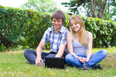 Young in the park — Stock Photo