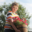 Young gardener — Stock Photo #10886090
