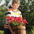 Young gardener — Stock Photo #10886128