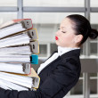 Stock Photo: Woman in office