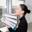 Woman in office — Stock Photo