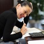 kadın ofiste — Stok fotoğraf
