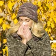 Stock Photo: Season allergy