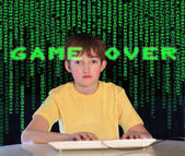 Computer addiction — Стоковое фото