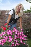 Tuinman vrouw — Stockfoto