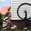 Stock Photo: Bike repair