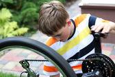 Naprawa rowerów — Zdjęcie stockowe