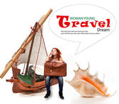 Dreams of traveling — Stock Photo