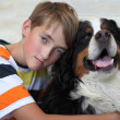 Boy and dog. — Stock Photo #11670622
