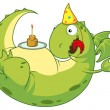 Dragon happy with cake — Stock Vector #11621174