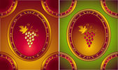 Labels or logo for Wines in old style — Stock Vector