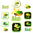 Stock Vector: Ecologic icon and logotype