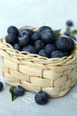 Basket with blueberries — Stock Photo