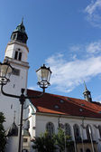 Steeple of town church, Celle — Stock Photo