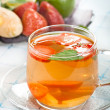 Ginger and strawberry tea — Stock Photo #11438082