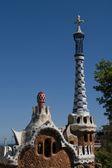 Park Guell v Barceloně, architektura od Gaudího, 2012 — Stock fotografie