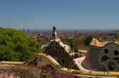 Guell park i barcelona med gaudi fungerar, 2012 — Stockfoto