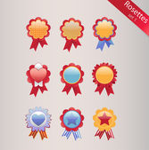 Rosettes set — Stock Vector
