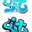 Stock Vector: Graffiti vector design