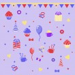 Stock Vector: Birthday clipart