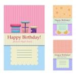 Birthday greeting cards — Stock Vector #12181500