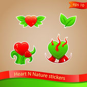 I love nature stickers — Stock Vector