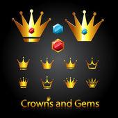 Kron ve taşlar — Stok Vektör
