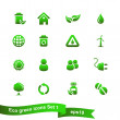 Nature and environment icon set — Image vectorielle