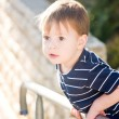 Little boy on the fence — Stock Photo