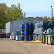 Factory of hazardous waste. Containers of hazardous waste. — Stock Photo