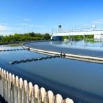 现代城市废水处理厂 — 图库照片
