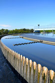 Modern urban wastewater treatment plant. — Stock Photo