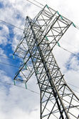 High voltage AC transmission tower. — Stock Photo