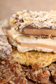 Variety of English Toffee with a shallow depth of field — Stock Photo