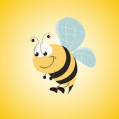 Cute bee — Stock Vector