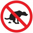 Dog stop sign - Stock Vector