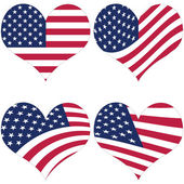 American Flag Illustration — Stock Vector