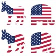 Americpolitical symbols — Stock Vector #11224978