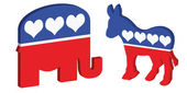 American political symbols — Stock Vector