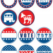 Set of 11 election campaign badges — Stock Photo #11250668