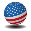 USA Flag Sphere - Stock Photo