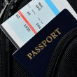 Pasport in suitcase — Stock Photo
