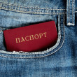 Red passort in jeans — Stock Photo