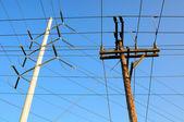 Elektrik hatları — Stok fotoğraf