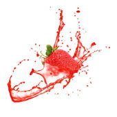 Strawberry splash — Foto de Stock