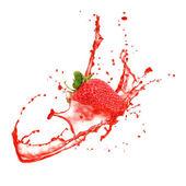 Strawberry splash — Stock Photo