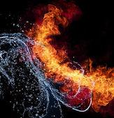 Ogień i woda — Zdjęcie stockowe