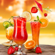Exotic cocktails - Stock Photo