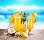Cocktails exóticos — Fotografia Stock