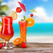 Exotic cocktails — Stock Photo
